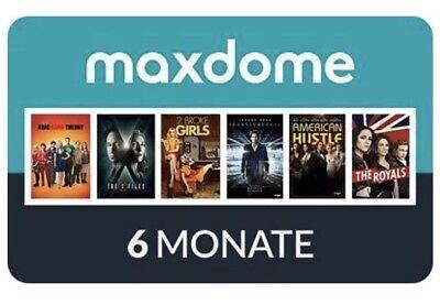 Qualifiziert 6 Monate Maxdome Code Einlösbar Bis 31.12.2019 Gratis Gutschein Abo