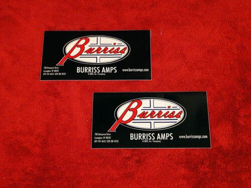 Burriss Amplifiers Sticker Set