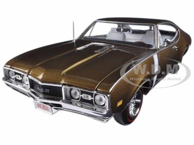 1968 OLDSMOBILE Cutlass 442  Hardtop bronze Limited 1002PCS 1 18 par autoworld AMM1084  économiser sur le dédouanement