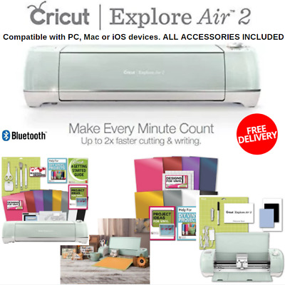 Fastest Cricut Explore Air 2 With Tool Kit And Vinyl Pack For Designs &  Project 710918280936 | eBay