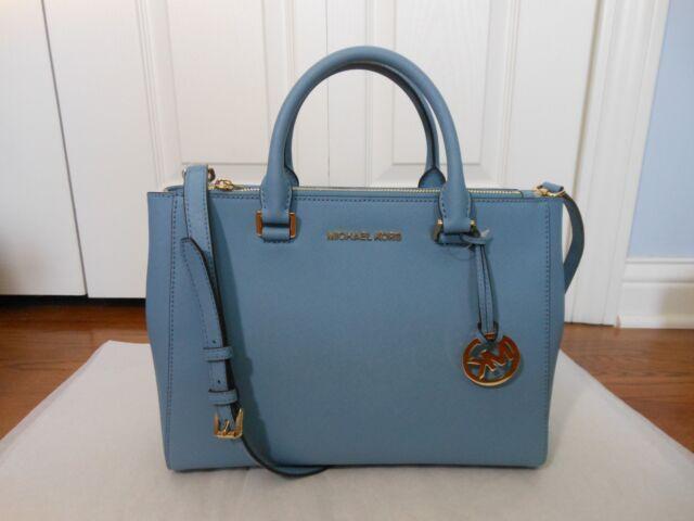 c9951c0ad794 NWT Michael Kors  378 Kellen MD Leather Satchel Crossbody Shoulder Bag