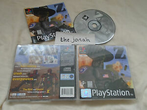 Z-The-Bitmap-Brothers-PS1-COMPLETE-Sony-Playstation-black-label-rare
