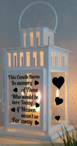 Vinyl Sticker For Lantern memorial quote This candle burns in memory of those