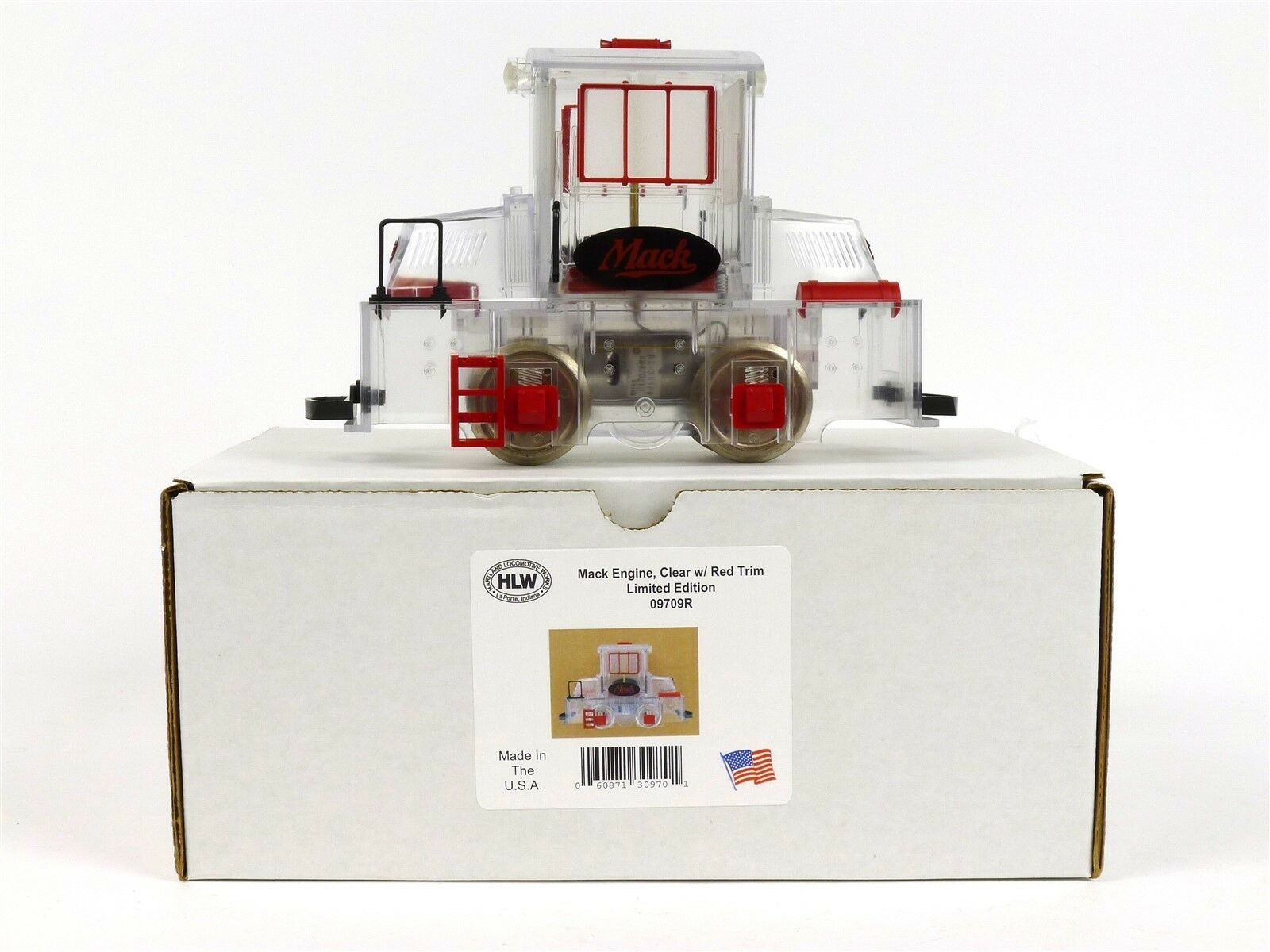 Hartland Locomotive Works claro rojo recortar Mighty Mack Motor 09709R Escala G