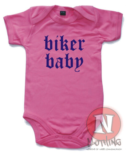 Naughtees Clothing Biker Baby Cute Babygrow baby Suit Cotton Great Gift vest new