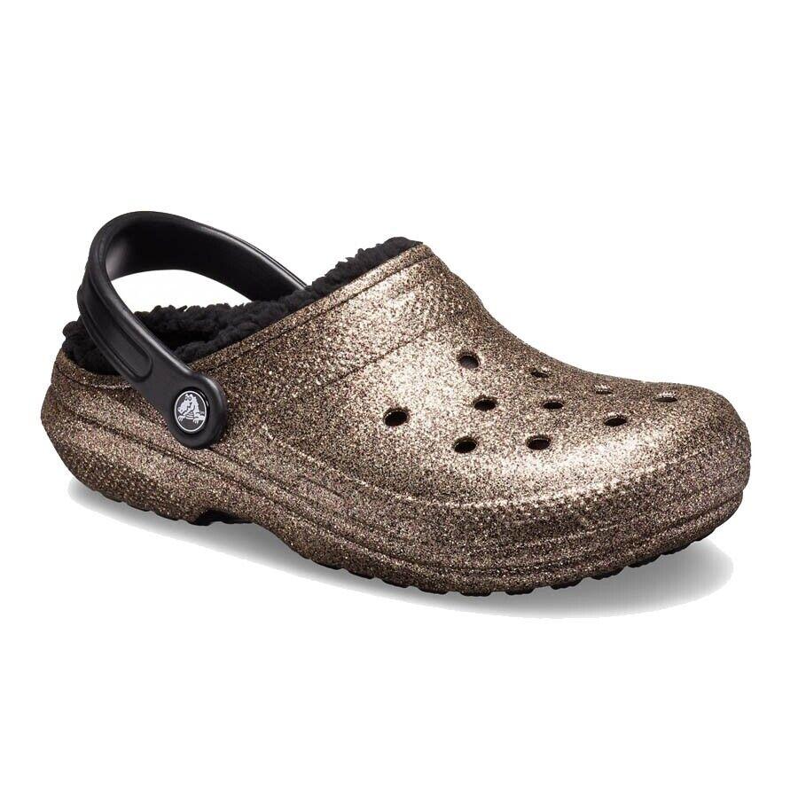 Crocs Holzschuhe Glitter Gesäumt Clog W Gold Mod. 205842