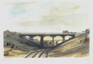 1846-Large-Antique-Lithograph-SONNING-CUTTING-Great-Western-Railway-BOURNE-10