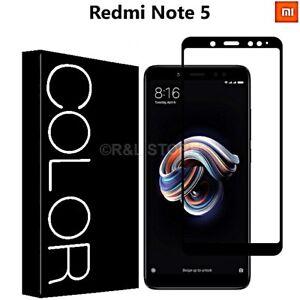 PELLICOLA-VETRO-TEMPERATO-CURVO-3D-per-Xiaomi-Redmi-Note-5-COPERTURA-TOTALE-FULL