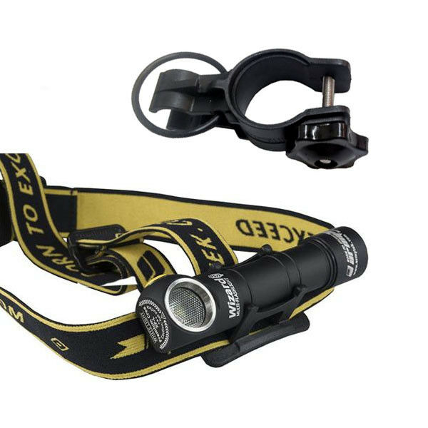 Armytek Wizard v3 XP-L NW Rechargeable Headlamp w Battery Included +Bike Mount