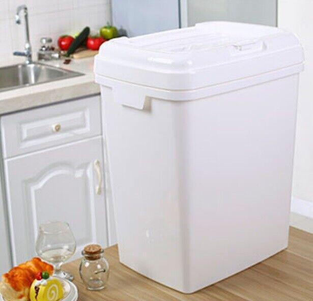 D45 25kg Kitchen Rice Storage Bin Flour Cereal Bean Grain Box Container Case Q