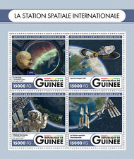 Guinea 2016 MNH International Space Station 4v M/S Scott Kelly Kornienko Stamps