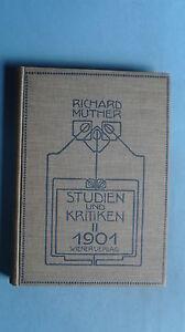 17/0/15 Richard Muther Studien Und Kritiken Band Ii 1901