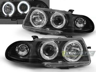 V-MAXZONE LPOP02 SET PROJECTOR HEADLIGHTS LAMPS ANGEL EYES BLACK