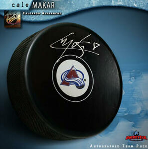 CALE-MAKAR-Signed-Colorado-Avalanche-Puck