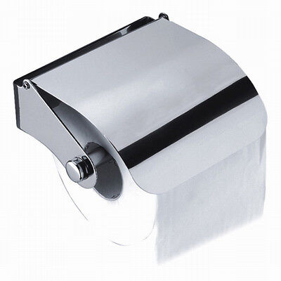 Wall Mounted Chrome Finish Toilet Paper Holder Tissue Loo Roll Paper Holder