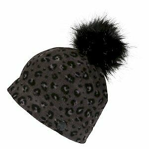 Black Leopard Print Regatta Womens/' Azni Insulating Bobble Hat