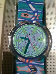 Vintage-Rare-Retro-POP-Swatch-034-BLUB-BLUB-034-1991-NEW-in-BOX