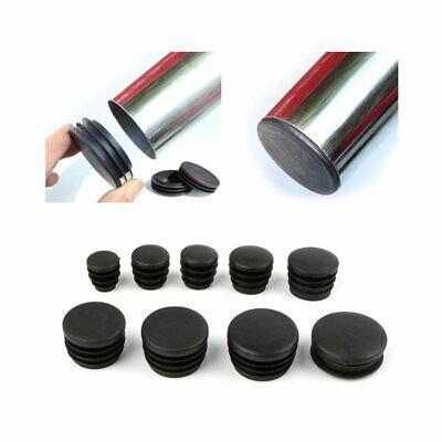 bouchon pour tube rond 35 noir plastique Capuchon Bouchons 10 Stck