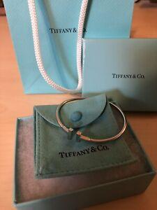 1930 Retailed 18k Wg Tiffany Co T Wire Bracelet Box Pouch Included Ebay