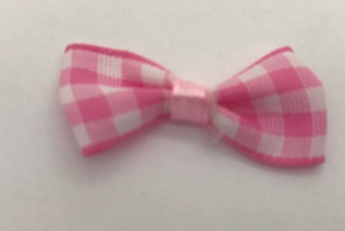 From 7mm Satin Ribbon Ideal for Crafts 3cm Wide Pre-Tied Bows Weddings Gifts