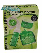 Peter Thomas Roth Cucumber De-Tox Hydrating&Soothing 4 Pcs Kit New In Box