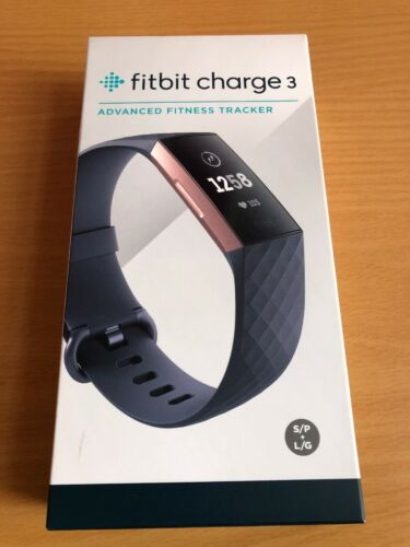 FITBIT CHARGE 3 ADVANCE FITNESS TRACKER IN ROSE GOLD!