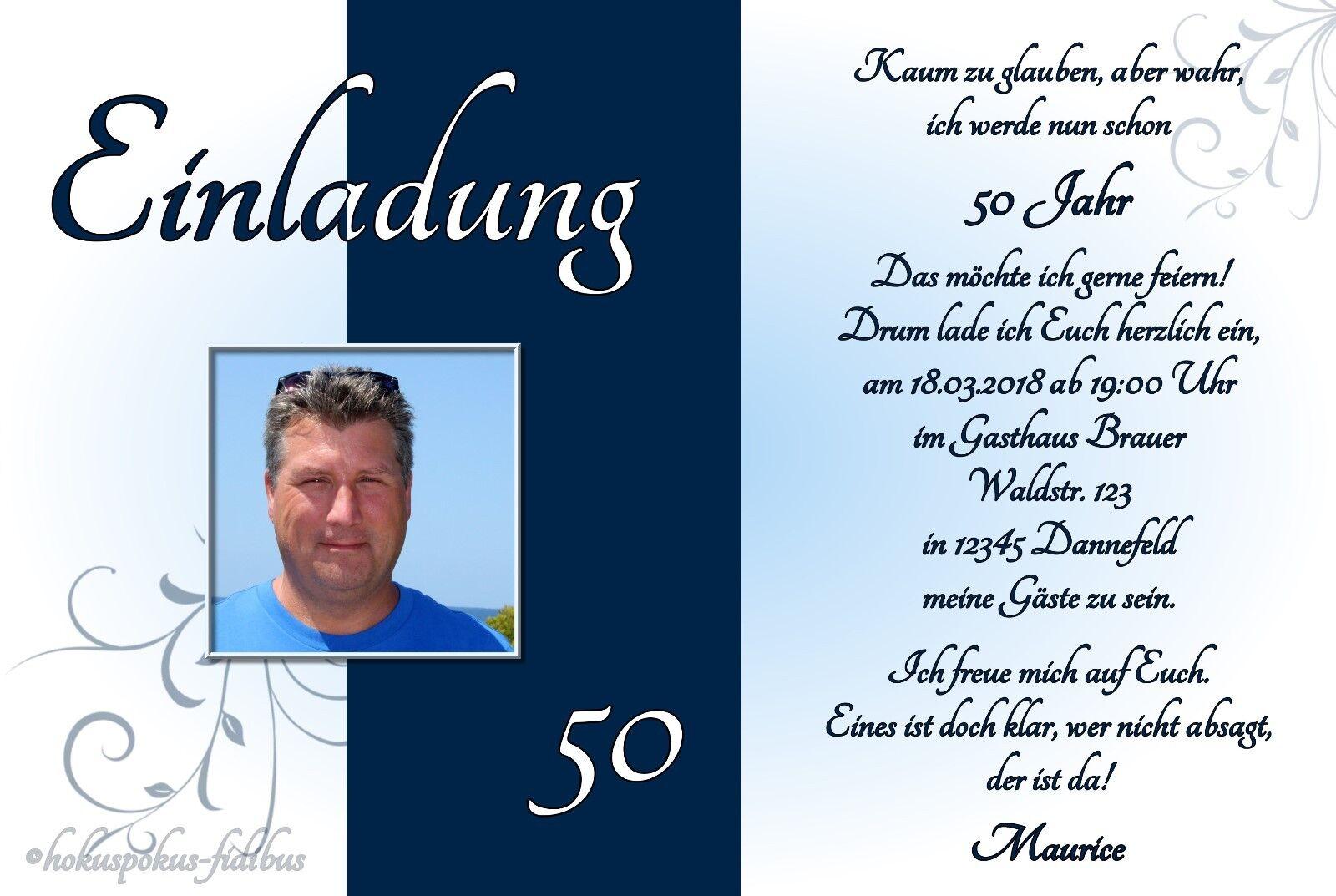 50 Cartes Invitation Anniversaire Invitations situer Chaque age  30 40 50 60 70