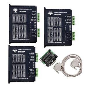 DE Free Ship Stepper Motor controller Drivers DM860 7.8A 24~80VDC for Nema34//23