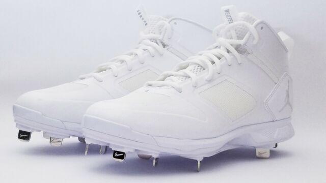 b5f75ab2402991 Air Jordan Jeter Clutch Metal Cleats Re2pect Baseball White Ao2914-102 Size  9.5