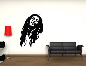 Adesivo Bob Marley stickers murale decalcomania composizione  vari colori