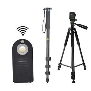 Pro-60-034-Tripod-amp-72-034-Monopod-Wireless-Remote-For-Nikon-D5200-D5300-D7000-D7100