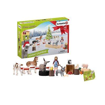 Pferde Bauernhof Hunde Kühe Adventskalender Farm World 2019 Schleich 97873