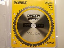 /Lame de scie circulaire de chantier/ /Jaune DeWALT DT1957/250/x 30/mm x 48T/