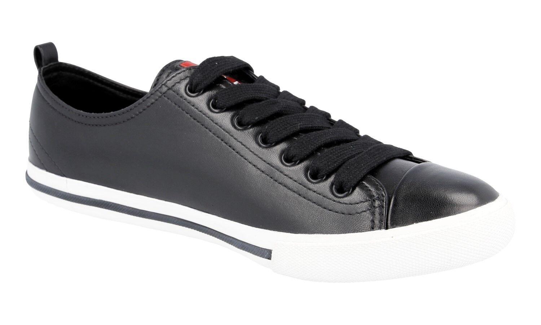 LUSSO Scarpe Prada scarpe da ginnastica 4e2927 NERO BIANCO NUOVO NUOVO NUOVO NEW 9,5 43,5 44 | Qualità  ca7bd5