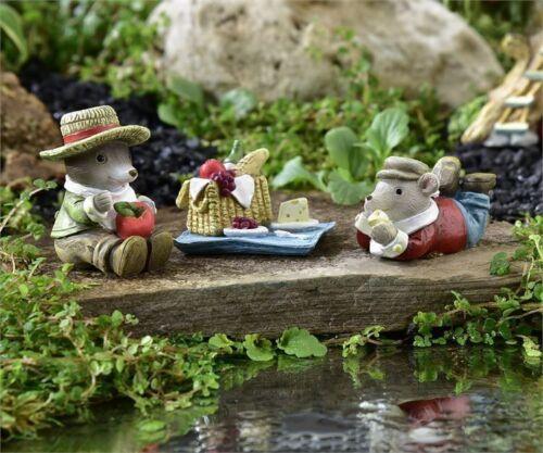 Miniature Dollhouse Fairy Garden Mice Picnic Set Buy 3 Save $5