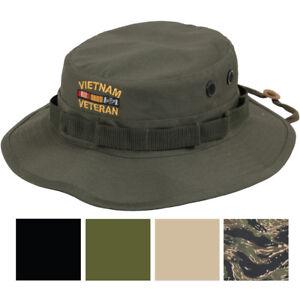 Vietnam Vet Military Boonie Hat Veteran Sun Shade Bush Army Cap ... 5305a11fd79