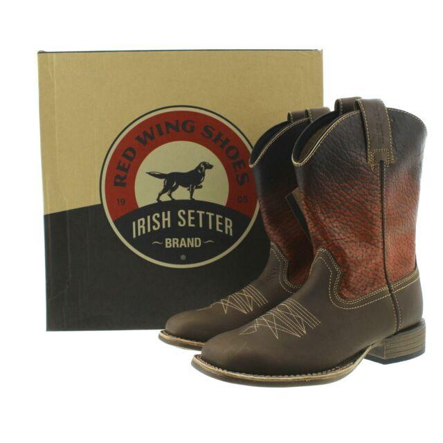 ca3e837cbaf Red Wing 4824 Irish Setter Mens Deadwood Western Burnt Orange Brown Leather  Boot