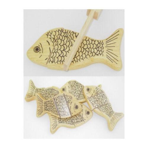 # Estia 600317 Fisch zum schneiden aus Holz Schneidespiel für Kinderküche NEU