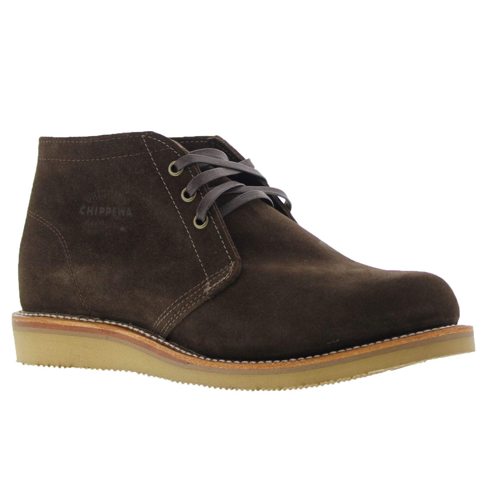 Chippewa 1901G05 Chocolate Mens Suede Leather Ankleboots