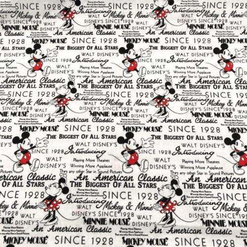 1//2 METRE PER METRE MICKEY WITH WORDS DISNEY  FABRIC SOLD BY FQ