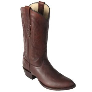Men-039-s-Los-Altos-Brown-Genuine-Pull-Up-Leather-Round-Toe-Cowboy-Western-Boots-D