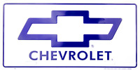 Chevrolet License Plate Chevy Bow Tie White Sign Made In The Usa
