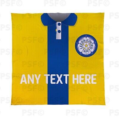 Leeds United Fc Ufficiale Personalizzata Lufc Retrò Camicia Coperta Copriletto Lfb011-mostra Il Titolo Originale