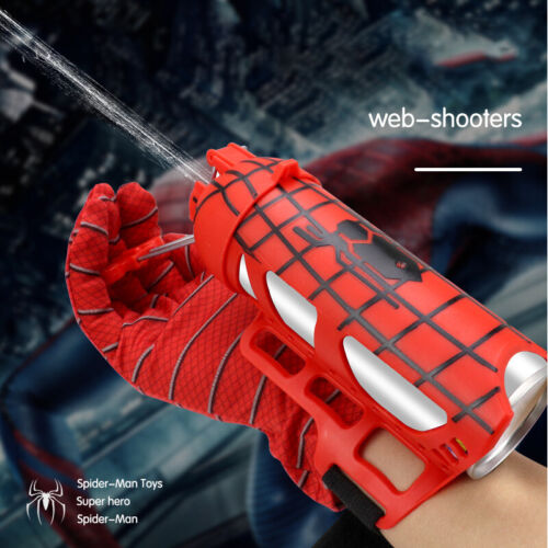 Avengers Ultimate Spiderman Web Shooter Launcher With Glove Toy Kid Xmas Gift UK