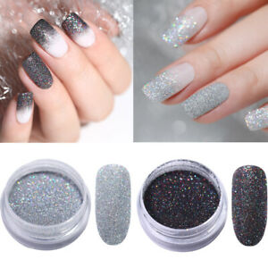 2Boxen-Holo-Schimmer-Nagel-Puder-Chrom-Pulver-Pigmente-Nail-Art-Glitters-Powder