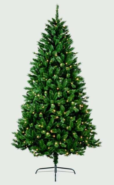 Pre Lit Christmas Tree Clearance.1 8m Pre Lit Christmas Tree Deluxe Led Lights Green Nordic Fir Tree 6 Foot