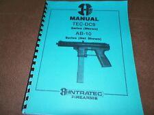 intratec tec dc9 ab 10 owners pistol gun instructions manual ab10 rh ebay com Intratec 9Mm tec 9 owner's manual