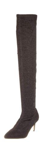 tissu noir pour en élastique Bottes Starlight genouillères à femmes wx8Ota