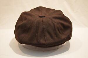 Hell Mens Brown Retro 1920's 1930's 8 Panel Baker Boy Newsboy Hat Cap Aka Cabby Cap