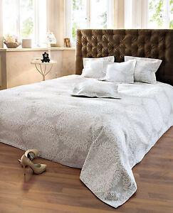 berwurf luisa bett berwurf sofa couch tagesdecke decke sand wei 220 x 240 cm ebay. Black Bedroom Furniture Sets. Home Design Ideas
